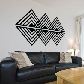 Vinilo Decorativo: Op art triangular