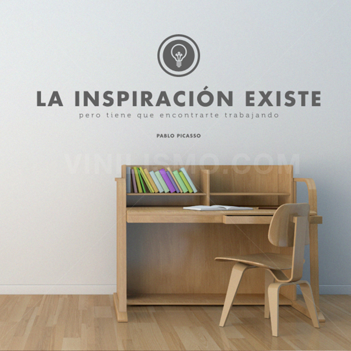 Tips para decorar una sala de estudio vinilismo for Frases en vinilo para pared
