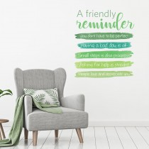 Vinilo Decorativo:  A FRIENDLY REMINDER