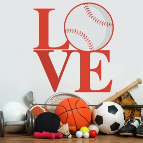 Vinilo Decorativo: Love Beisbol