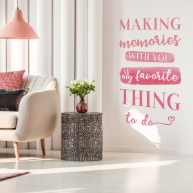 Vinilo Decorativo: MAKING MEMORIES