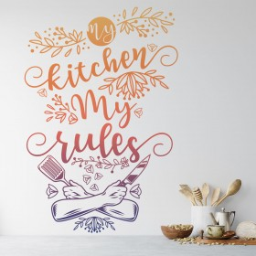 Vinilo Decorativo: MY KITCHEN, MY RULES