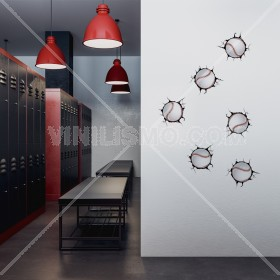 Vinilo Decorativo: Breaking Wall Beisbol