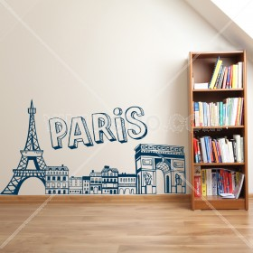 Vinilo Decorativo: Skyline Paris