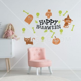 Vinilo Decorativo: Halloween Happy
