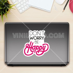 Vinilo decorativo para laptop: Don´t Worry be Happy