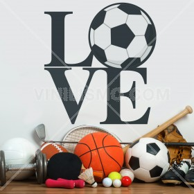 Vinilo Decorativo: Love Futbol