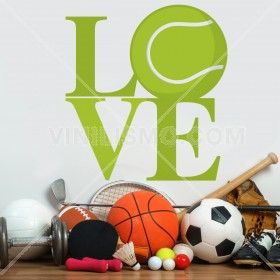 Vinilo Decorativo: Love Tennis