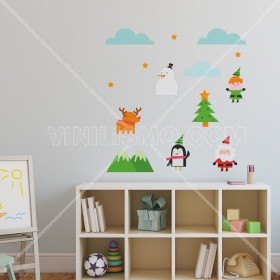Vinilo Decorativo: Santa and Friends