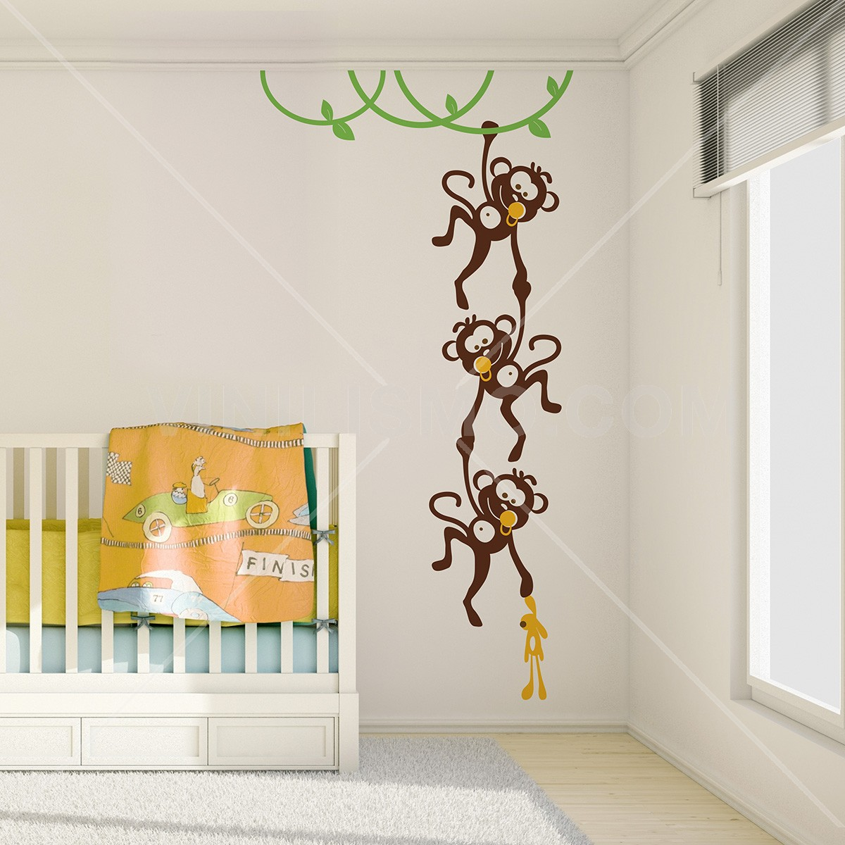Changuitos Para Dibujar wall decal: changuitos jugando