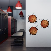 Vinilo Decorativo: Breaking Wall Basket