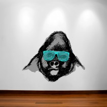 Wall Decal: Gorila Hipster