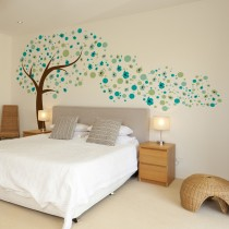 Wall Decal: Arbol en Movimiento azules