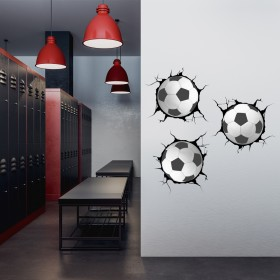 Vinilo Decorativo: Breaking Wall Futbol