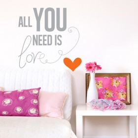 Wall Decal: All you need is love