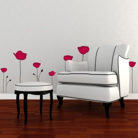 Wall Decal:  Jardín de Amapolas