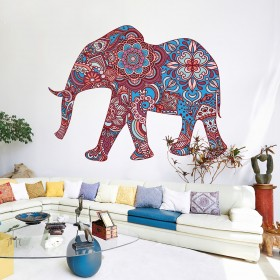 Wall Decal: Elefante Hindú azules