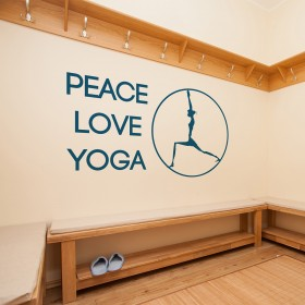 Wall Decal: Peace Love Yoga