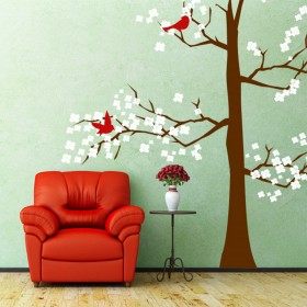Wall Decal: Arbol con Aves