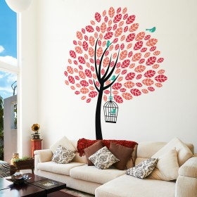 Wall Decal: Árbol bicolor 2
