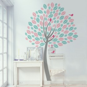Wall Decal: Árbol bicolor 3
