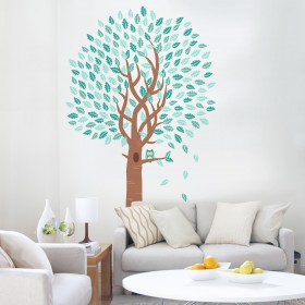 Wall Decal: Árbol con búho 3