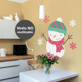 Wall Decal: Muñeco de nieve