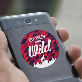 Cell phone decal: Born to be wild