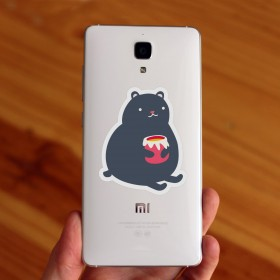 Cell phone decal: Little bear