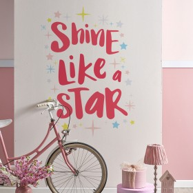 Vinilo Decorativo: SHINE LIKE A STAR