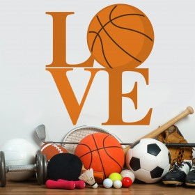 Vinilo Decorativo: Love Basquet
