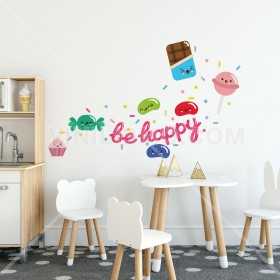 Vinilo Decorativo: BE HAPPY