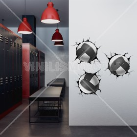 Vinilo Decorativo: Breaking Wall Voleibol