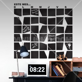 Vinilo Decorativo de Pizarron: Calendario.