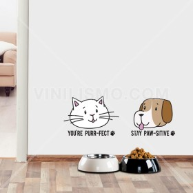 Vinilo Decorativo:  Cute pets
