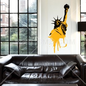 Wall Decal: Libertad en Graffiti