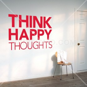 Wall Decal: Happy Thoughts