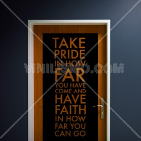 Wall Decal: How Far you Can Go
