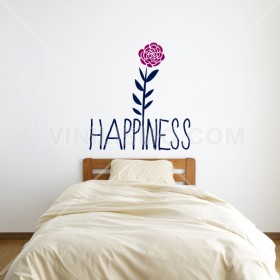 Wall Decal: Happiness