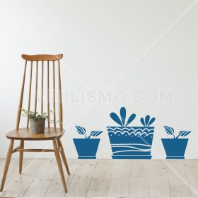 Wall Decal: Dibujo de Macetas