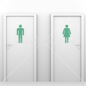 Wall Decal: Icono Baño
