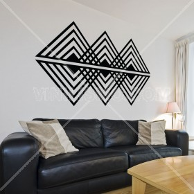 Wall Decal: Op art triangular