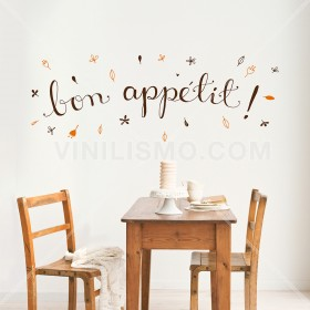 Wall Decal: Bon appetit