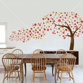Wall Decal: Arbol en Movimiento naranjas