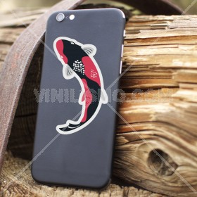 Cell phone decal: Pez koi