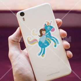 Cell phone decal: Princesa durmiente