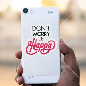 Cell phone decal: Be Happy