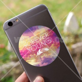 Cell phone decal: Forever Young