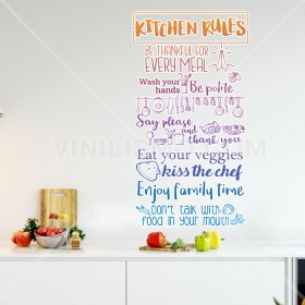 Vinilo Decorativo: KITCHEN RULES